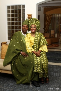 My brother Obinna & Uju modelling for The Elect aso-oke. :)
