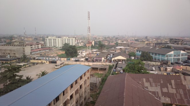 View of Lagos from the CcHUB rooftop