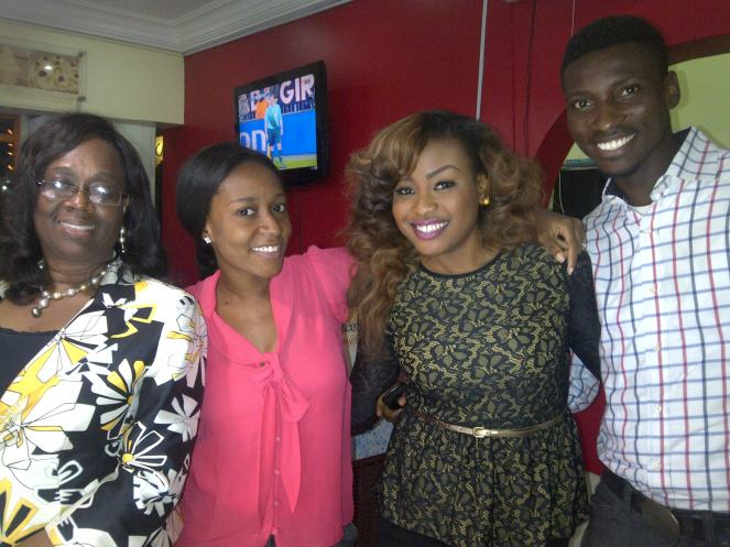 Aunty Mosun, Adedayo Onafuwa, Obianuju and Ayo Enyabine