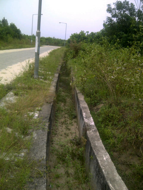 Drainage, good road, street light by Dry Land in Abijo Estate.