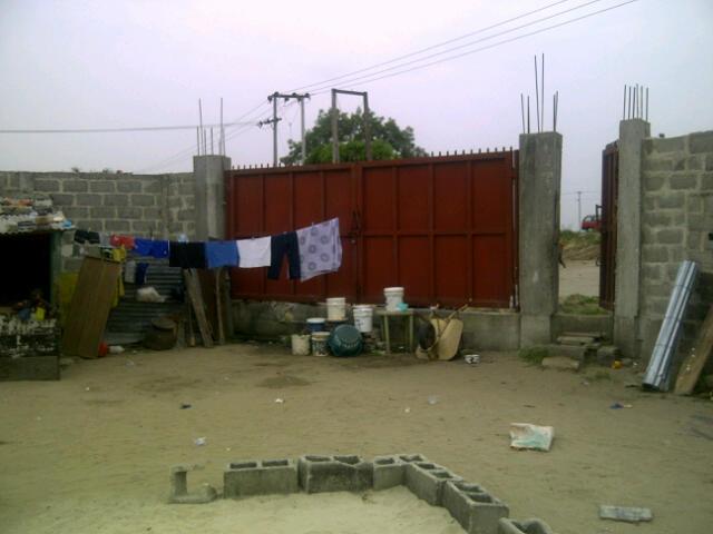 Gate of fenced 6plots @ General paint Ajah