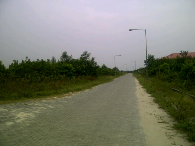 Interlocking paved road in entire estate @ Abijo
