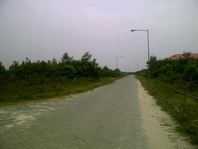 Interlocking paved road in entire estate @ Abijo