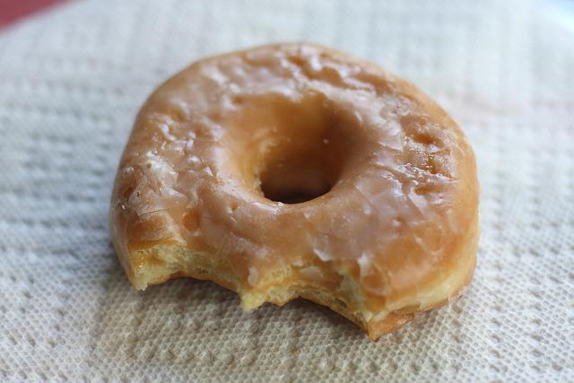 half eaten donut