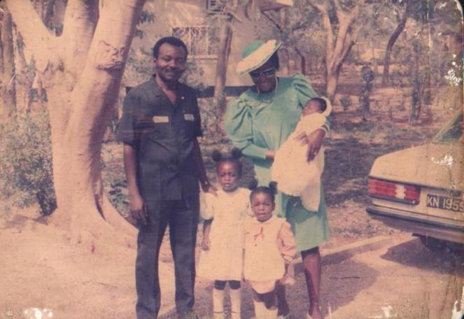 Kano - Daddy, Mummy, Ada in blue, me in pink, Chichi the baby
