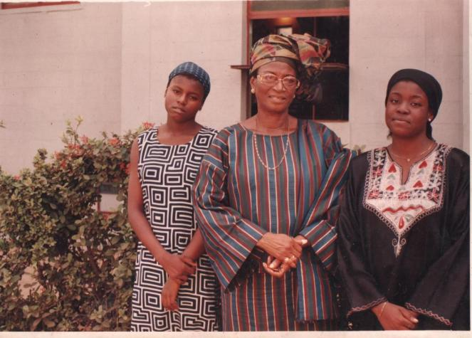 Chichi, our grandma, Rtd. Wing Commander Phoebe Achike and I