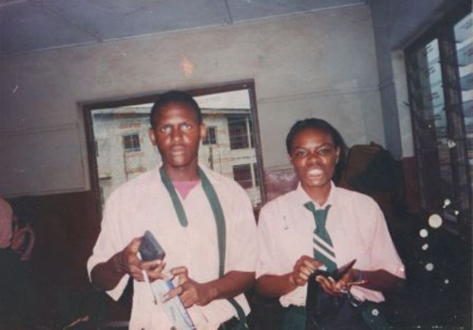 I think this was the day we wrote Math for WAEC. Can you recognise him without the beard & the dreads? That's Clarence & Nwanneka
