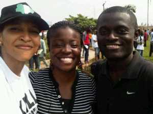 At the #OccupyNaija protests with Biola Adesanya and Joachim MacEbong
